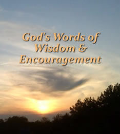 God's Words of Wisdom and Encouragement Cover